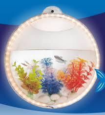 Wall Mounted Fish Tank Light Wall Hanging Mount Beta Fish Bubble Aquarium Bowl Tank With