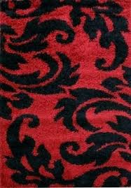 red throw rug red and black rugs damask style print rug red black black white