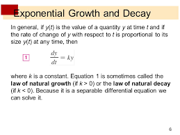 6 exponential growth and decay
