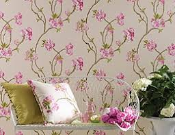 Small Picture Floral Wallpaper Designer Flowered Flower Bird Print Wallpapers