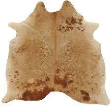 cow hide bull skin brown white beige 185 x 160 cm cowhide rug furniturediy rugs carpets hides skins faux fur særlige counter værdifuld