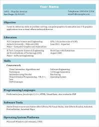 Student Resume Format Resume