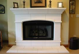 interior concrete fireplace hearth ideas shelf stunning mantel with faux stone stained polished paint diy