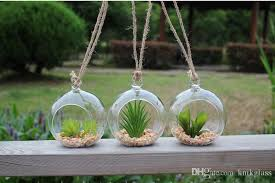 creative glass hanging planters terrariums bulb flower pot microlandschaft air plant pot glass plant containers hanging