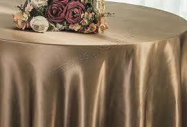 90 round satin table overlay latte 55568 1pc pk
