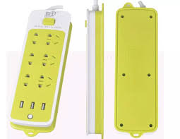 Ổ cắm điện kiêm sạc điện thoại (6 phích cắm 3 cổng USB)