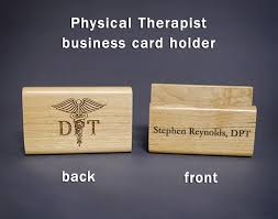 Doctor Of Physical Therapy Personalized Business Card Holder Is