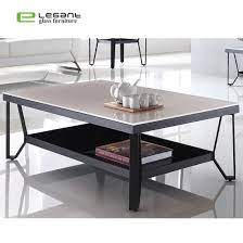 rectangle painting glass coffee table