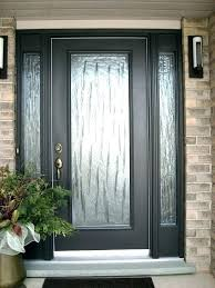 black front door with glass s entry canada