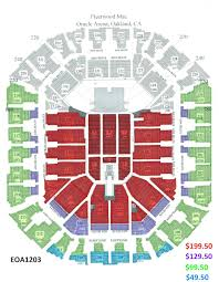 Oakland Arena Seating Chart Fleetwood Mac Oakland Arena And Ringcentral Coliseum