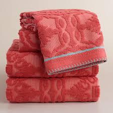 Coral Bathroom Decor Coral Towels