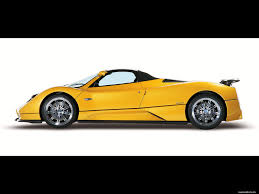 car side view white background.  White Yellow Pagani ZondaRoadster On A White Background Side View Cars For Car Side View White Background