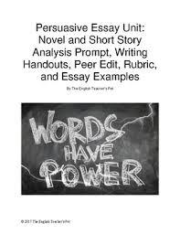 literary analysis persuasive essay writing handouts prompt peer literary analysis persuasive essay writing handouts prompt peer edit rubric