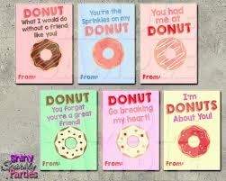 Donut Valentine Cards Valentines