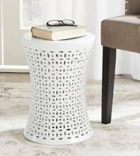ceramic garden seat. ceramic white garden stool outdoor plant stand patio decor indoor seat end table r