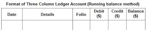 Accounts In Accounting T Account Three Column Ledger Account