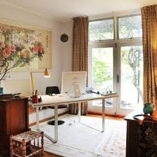 Office living room Room Divider Home Office Eclectic Freestanding Desk Home Office Idea In Sydney With Gray Walls Houzz Home Office Living Room Houzz