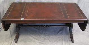 Find the perfect vintage duncan phyfe piece. Lot Duncan Phyfe Mahogany And Leather Top Dropleaf Coffee Table
