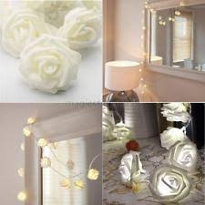 Xmas String Lights Rose Flower Fairy 20 LED Indoor Party Light Bedroom  Decor UK