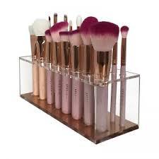 rose gold brush stand
