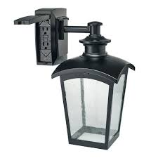 Outdoor Lighting Md Hampton Bay Die Cast Exterior Lantern Sconce With Gfci Black