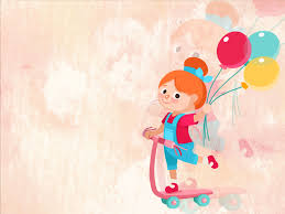 Kids Powerpoint Background Cute Balloons Powerpoint Templates Editorial Education