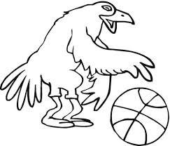 Vogel Basketballer Kleurplaat Gratis Kleurplaten Printen