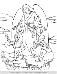 Small Picture Guardian Angel Coloring Pages Miakenasnet