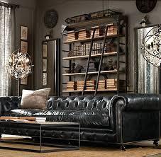 ralph lauren sofa. Restoration Hardware Chesterfield Sofa Ralph Lauren Leather Black Couch