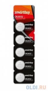 <b>Батарейки Smartbuy</b> SBBL-2032-5B <b>CR2032</b> 5 шт — купить по ...