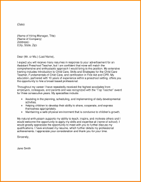 Sample Teacher Cover Letter Template Cover Letter Education Ninjaturtletechrepairsco 18
