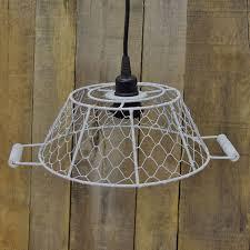 small white metal lamp shade w socket