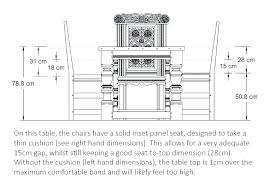 what is the average height of a dining room table standard dining room chair height average