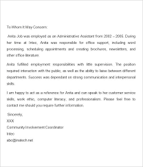 Letter Of Recommendation For Immigration Purposes Reference Letter Template For Immigration Purpose Danafisher Co