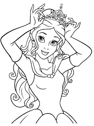 September 19, 2009 disney princess. Belle Coloring Page Pdf Below Is A Collection Of Beautiful Belle Coloring Page Which You C Belle Coloring Pages Princess Coloring Pages Mermaid Coloring Pages