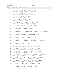 balancing equations problems math anevent club worksheet pdf worksheets with answers 2nd grade chemical skills 10