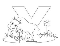 Small Picture Letter Y Alphabet Coloring Pages For Kids Letter Y Words Coloring