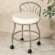 flare back powder coat nickel finish vanity chair