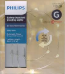 Philips Dewdrop Lights Plug In Amazon Com Philip 30ct Christmas Battery Operated Led