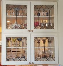 cabinet doors inserts beveled stained glass etched art inside with plan 13