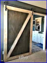 star design sliding barn door hardware kit with 8 ft track 96 made in usa