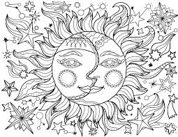 Small Picture Free printable sun and moon adult coloring page Download it in