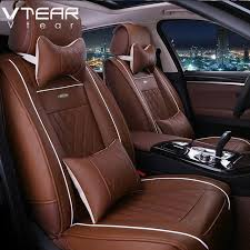 leather car seat covers vtear universal leather car seat covers for toyota rav4 c hr 2016