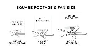 ceiling fan sizes a ceiling fan chart comparing square footage and fan size ceiling fan sizes