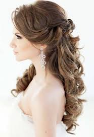 hairstyles for wedding. Picture Of elegant half up half down wedding hairstyle with divine curls