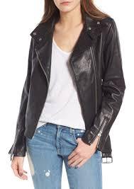 mackage miela n belted leather moto jacket