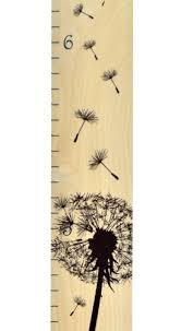 Dandelion Growth Chart Dandelion Ruler Growth Chart Wall Hanging Wood Height