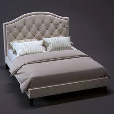 h60f tufted bedframe 3d model max obj fbx mtl 1 bed frame25