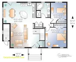 two bedroom house plans with basement