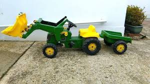 tractor trailer ride on toy kids john ride on tractor trailer and front bucket john deere